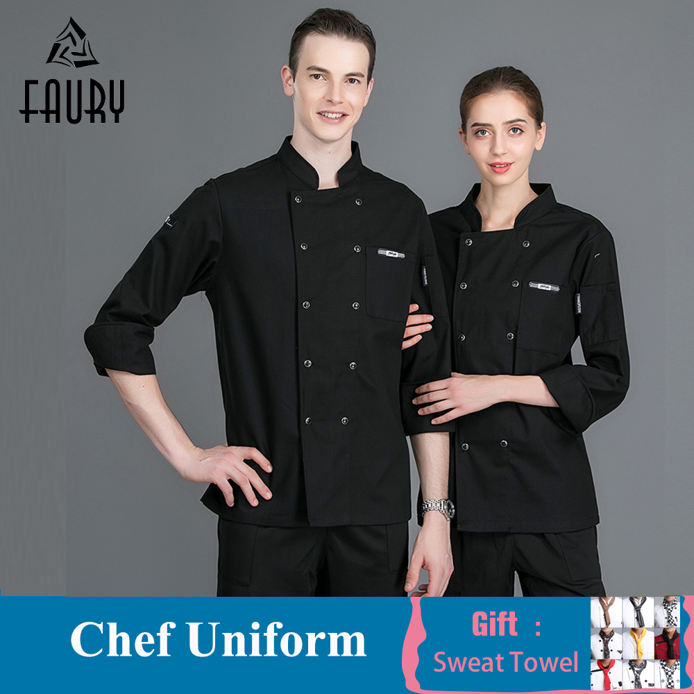 Chef Jackets Uniform Restaurant Hotel Catering Bakers Work Clothes Coffee Waiter Waitress Uniform Sushi Costume Barber Workwear