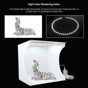 Image 2 - Для съемок в фотостудии 32 см кольцо светодиодный светильник коробка складной софтбокс светильник коробка в форме палатки для студийной фотосъемки в наборе с 6 цветов фон