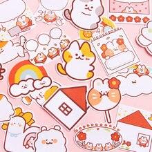 Journamm 30 sztuk/partia wiadomość Cute Cartoon Cat serii notatnik samoprzylepne Memo Pad uwaga Memo przyklejony papiernicze artykuły biurowe