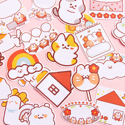 Journamm 30pcs/lot Message Cute Cartoon Cat Series Notepad Self-Adhesive Memo Pad Note Memo Sticky Stationery Office Supplies