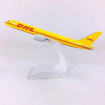 16CM 1400 samoloty Boeing B757 model DHL ekspresowa dostawa linie lotnicze samolot ze stopu cynku kolekcjonerski manekin sklepowy