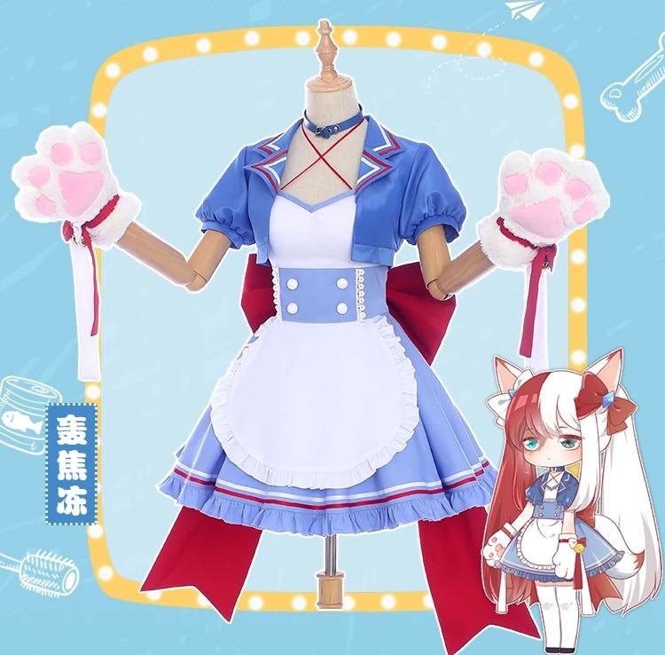 Anime Cosplay Kostum Todoroki Shoto Trans Jenis Kelamin Handmaid S Gaun Wanita Apron Dress Lolita Dress Aliexpress