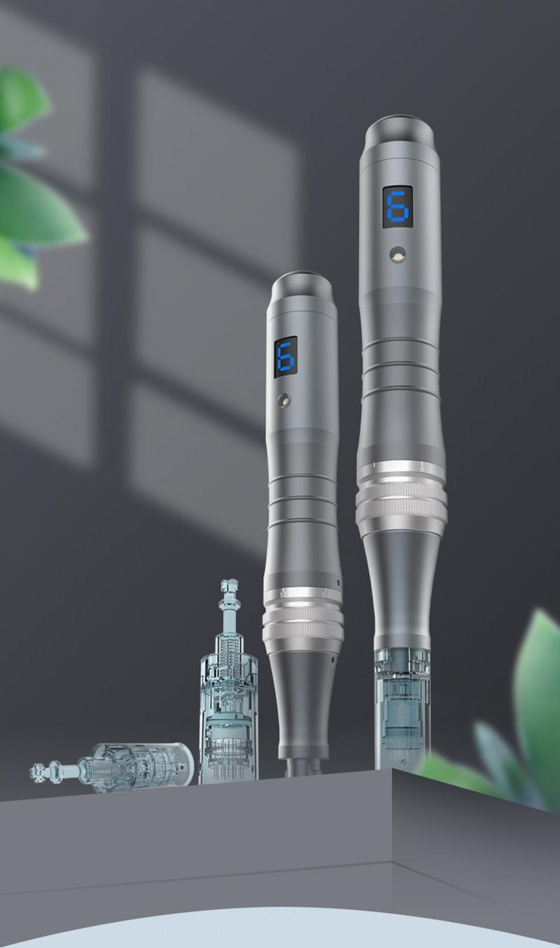 níveis microneedling caneta recarregável kits de cuidados com a pele