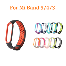 FANGTUOSI Farbe Strap Für Xiaomi Mi Band 5 4 3 Silikon Ersatz Armband Armband Armband Für Mi Band 4 5 TPU Gurt