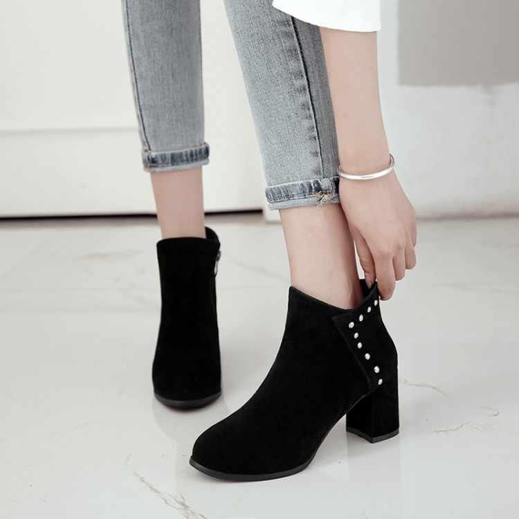 Kích Cỡ Lớn-Giày Nữ Giày Nữ Mắt Cá Chân Giày Cho Nữ Giày Hàn Quốc Joker Ký Hợp Đồng