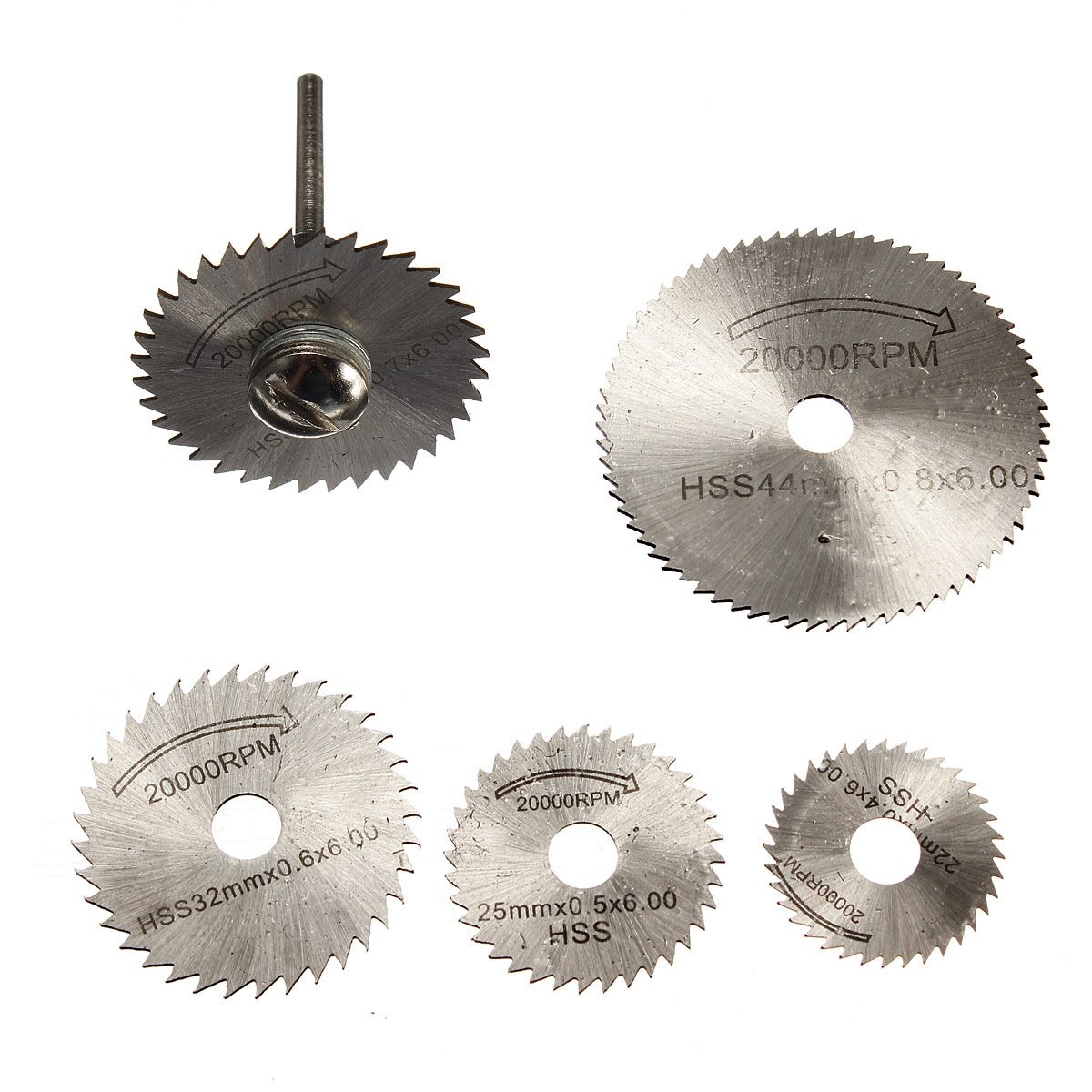 High Quality 6pcs/set Mini HSS Circular Saw Blades Rotary Tool For Dremel Metal Cutter Hand Tool Cutting Diamond Discs Mandrel
