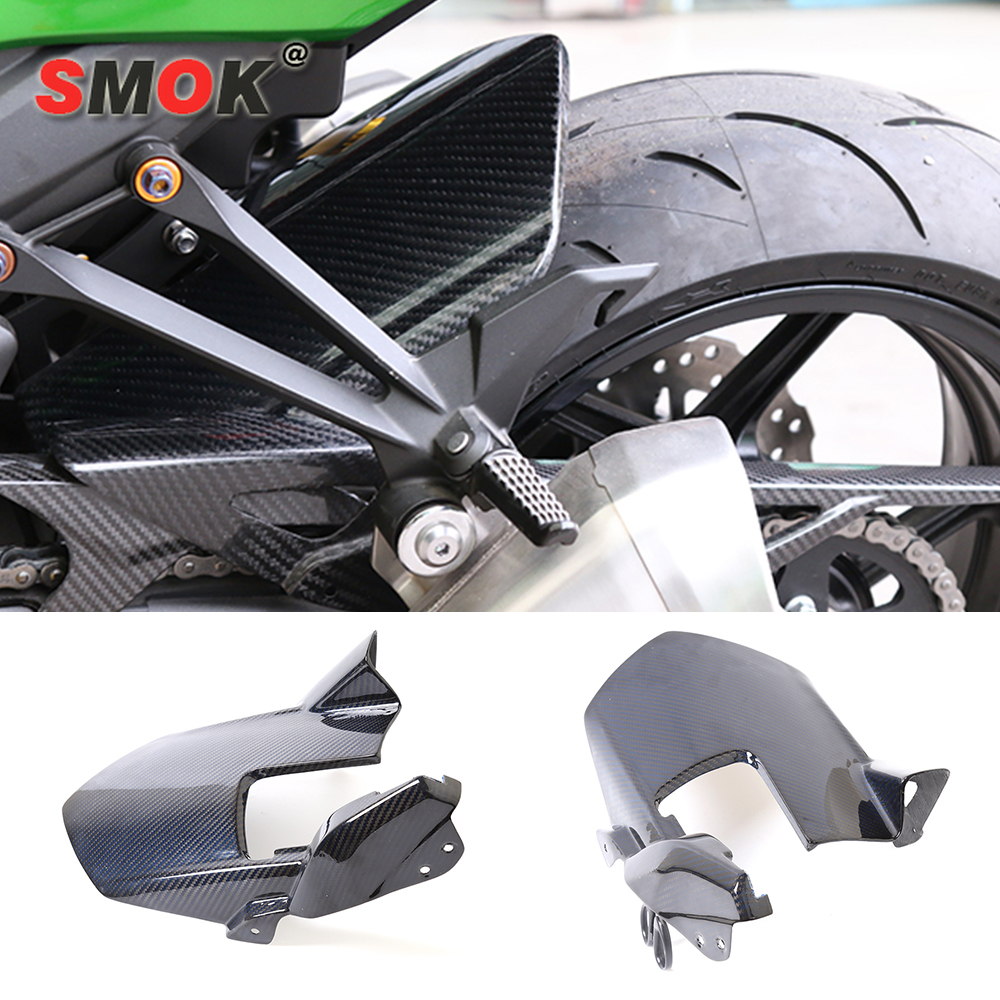 SMOK For Kawasaki Z1000 2010-2015 Motorcycle Carbon Fiber Rear Fender Splash Mud Dust Guard Mudguard Protection Tire Mudguard