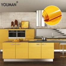 Papel de pared autoadhesivo de PVC, película decorativa blanca perla, autoadhesivos de renovación de muebles, armario de cocina, pegatinas impermeables