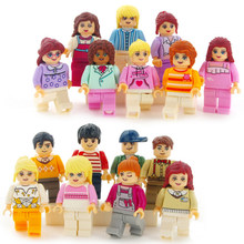 8 Pcs/lot City Figure Compatible With LegoING Engineer Figure City Police Gangster Buildings Blocks Sets DIY Assemble Doll Toy(China)