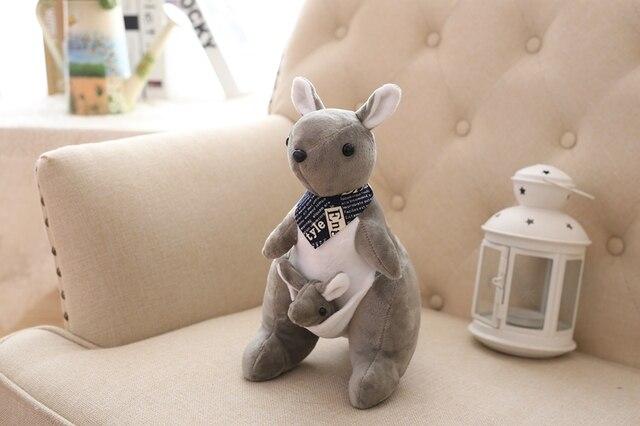 30cm 1 Uds Australiano de la madre y el niño canguro juguetes de peluche lindo adorable peluche suave muñeca bebé juguetes regalo de cumpleaños para niños