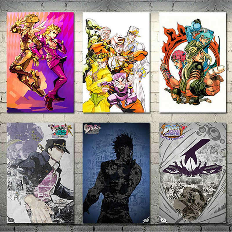 Japan Anime Painting Home Decor Jojo S Bizarre Adventure Action Hd Print Canvas Poster Modular Pictures Modern Bedroom Wall Art Painting Calligraphy Aliexpress