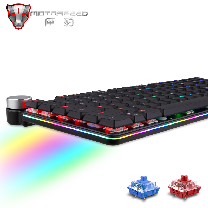 Mechanical Keyboard Wireless Gaming Keyboard RGB Mix LED Backlit 104 Anti-Ghosting Blue Red Switch For Game Laptop PC Russian US
