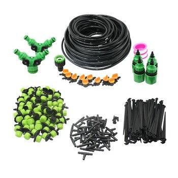 5-60M 1/4 automatyczne z mikrootworami System nawadniania ogród 8 otwór Spray podlewanie zestawy z regulowana zielony kroplownik