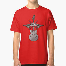 ROCK and GROHL Awesome Drumstick& Guitar ORIGINAL Design! T shirt dave grohl drummer guitar foo grohl fan(China)