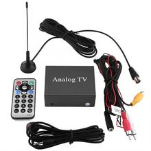 Car Auto Mobile DVD TV Receiver Analog TV Tuner Strong Signal Box with Antenna Remote Controller