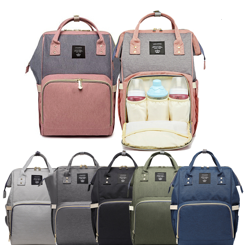 Maternity Classic Simple Mammy Bag Diaper Bag Daily Commuting Backpack Large Nappy Bag Babies Bag Travel Picnic Baby Care Wetbag
