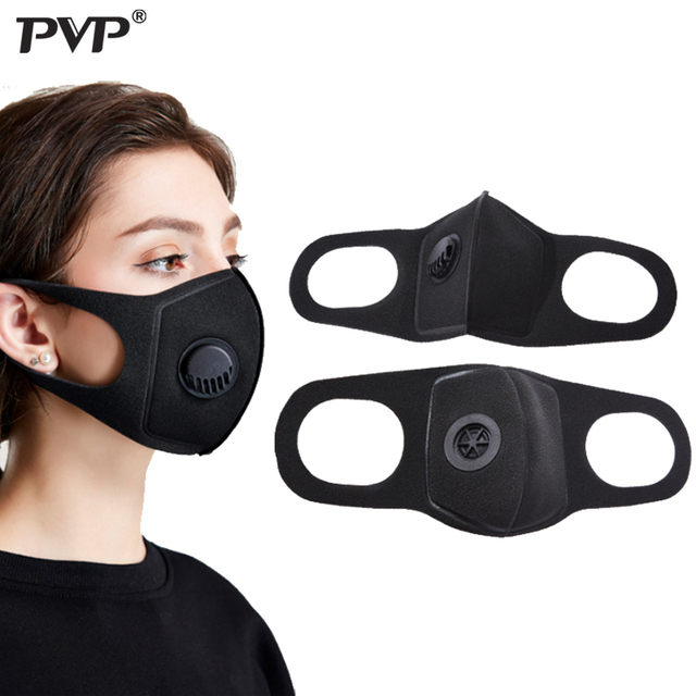 PVP 1Pcs Face Mask Dust Mask Anti Pollution Masks PM2.5 Activated Carbon Filter Insert Can Be Washed Reusable Mouth Masks warm
