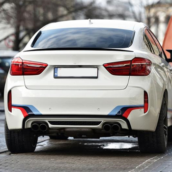For BMW X6 F16 Spoiler 2015--2019 Year Rear Wing P Style Sport Body Kit Accessories Real Carbon Fiber image