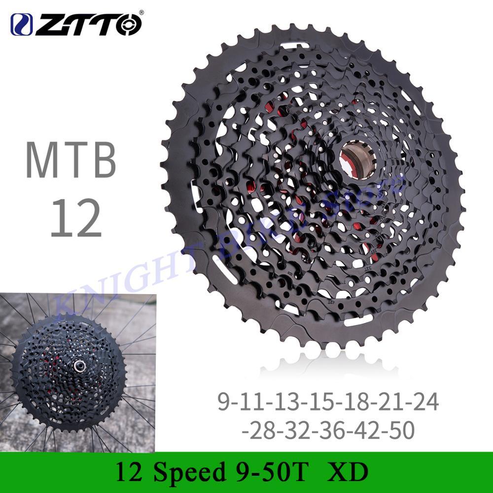 ZTTO MTB Bicycle Cassette 12 Speed 9-50T XD Cassette Black Cassette Freewheel