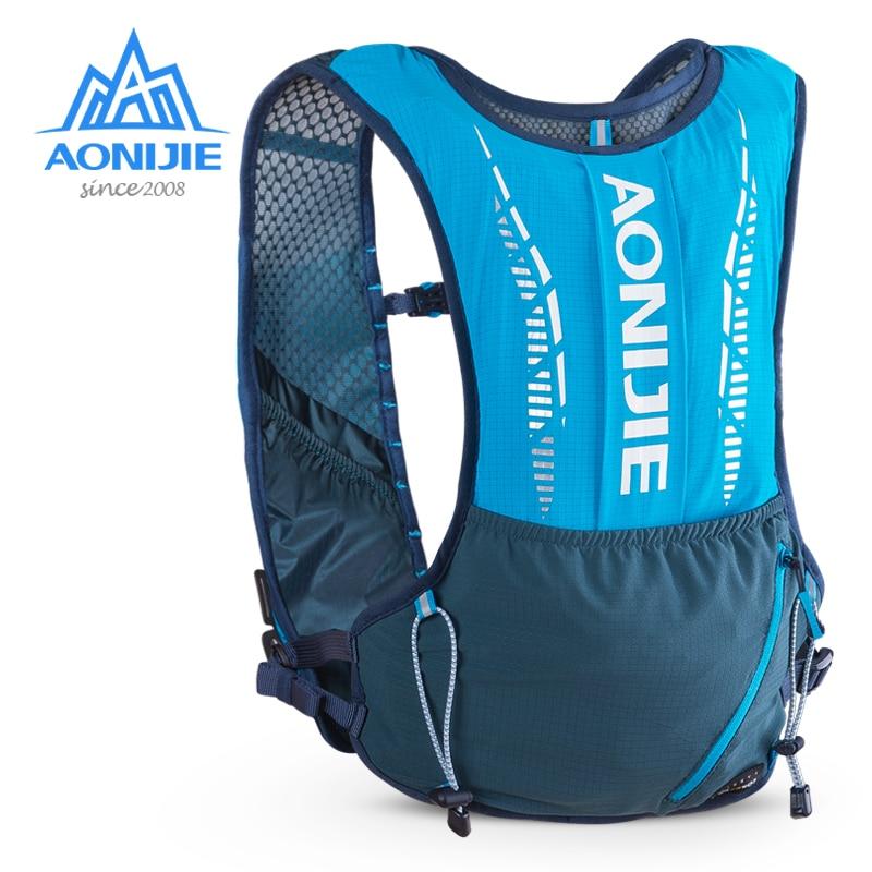 AONIJIE C9102 Ultra Vest 5L Hydration Backpack Pack Bag Soft Water Bladder Flask Set For Hiking Trail Running Marathon Race