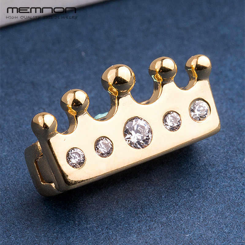 Neue mode Glanz Reflexions crown clip charms 925 sterling Silber goldene perlen fit charm bead gold armbänder DIY Memnon Schmuck