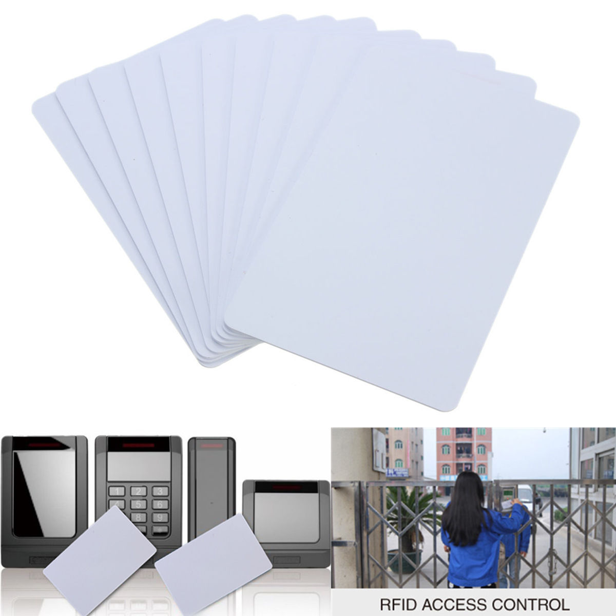 10 Pcs Blank NFC Smart Card Tag Tags1k S50 IC 13.56MHz Read And Write RFID Rewritable Wholesale IC White Cards