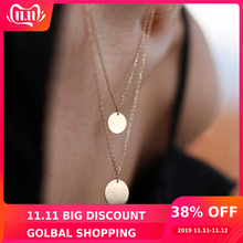 Coins Necklace Jewelry Collares Choker Custom Gold-Filled-16mm-Pendants Best-Friend 14