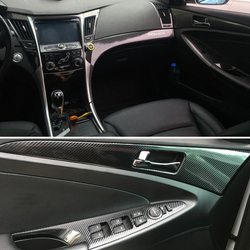 Auto-Styling 3D 5D Koolstofvezel Auto Interieur Center Console Kleur Veranderen Molding Sticker Decals Voor Hyundai Yf Sonata 8 2011-2014