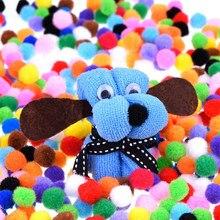 100-500 pces 10/15/20/25/30mm mini pompons sortidas macios multicolorido artes e ofícios pompons bolas para diy decorações criativas