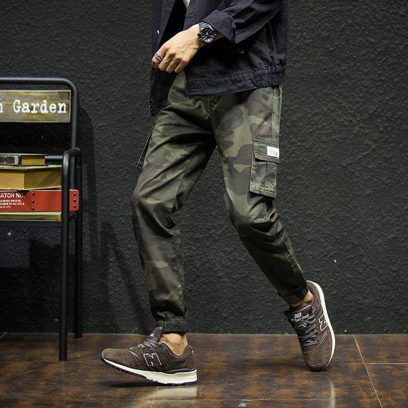 2019 Spring And Summer New Style Japanese-style Popular Brand-Style Men's Trousers Pure Cotton Slim Fit Camouflage Capri Pants S