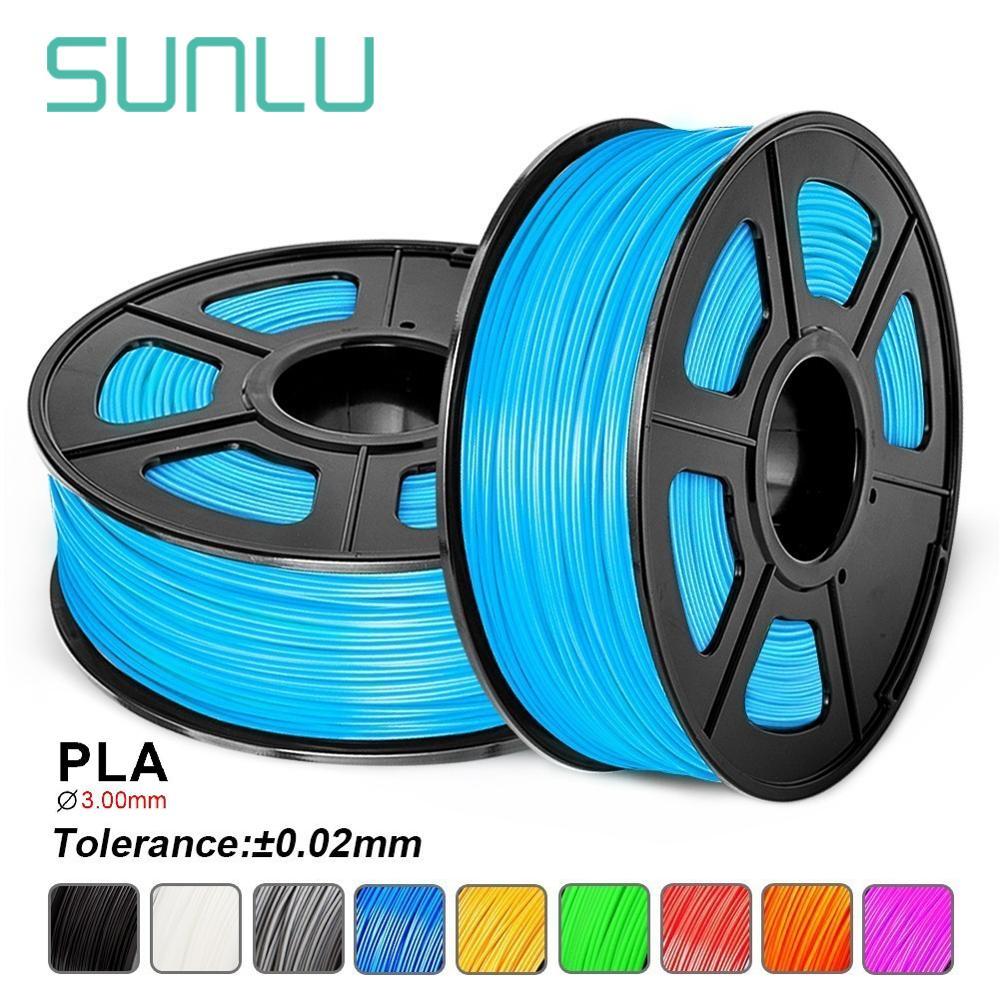 SUNLU 3.00MM 3D Printer PLA Filament 1KG With Spool Dimensional Accuracy+/-0.02mm Noctilucent Color Polylactic Acid Consumable