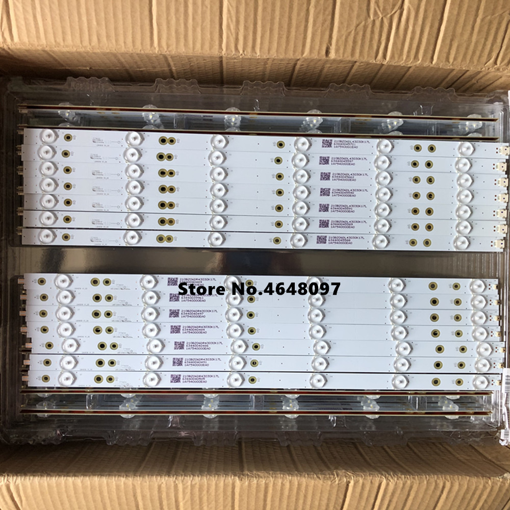 New 14 PCS/set LED Backlight Strip For LB49016 V1_00 GJ-2K16-490-D712-P5-R/L 01N21 01N22 TPT490U2 49PUS6401 49PUH6101