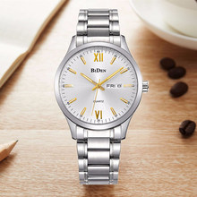 BIDEN Classic Quartz Men's Watch Men Stainless Steel Clock Fashion Casual Business Watches Male Wristwatch(China)
