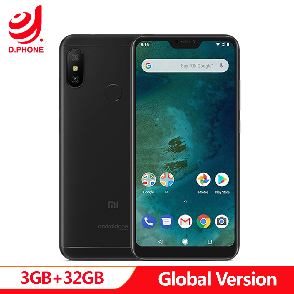 Original Global Version Xiaomi Mi A2 Lite 3GB 32GB Android One Snapdragon 625 Octa Core 5.84