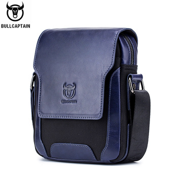 BULLCAPTAIN Man Messenger Bag Men Genuine Leather Shoulder Bags Business Crossbody Casual Bag Famous Brand male Handbag bags bullcaptain new men bag genuine leather man brand crossbody shoulder bag small business bags male messenger leather bags