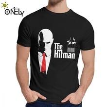 Moda o hitman t camisa homem novo personalizado natural algodão t camisa o pescoço