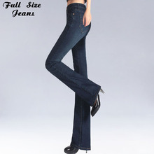 Jean Slim Vintage coupe Slim, grande taille, évasé, taille moyenne, extensible, pantalon à fond cloche, XXL 4XL 5XL XS 6XL