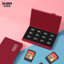 BUBM Aluminium Alloy SD Storage Holder Memory Card Case TF Protector Shockproof Durable Card Case Storage Accessories(Silver)