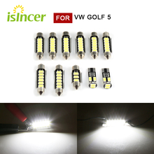 Luz LED blanca Canbus Premium para coche VW Golf, 5 tamaños 25mm 31mm 38mm 41mm, 11 Uds.