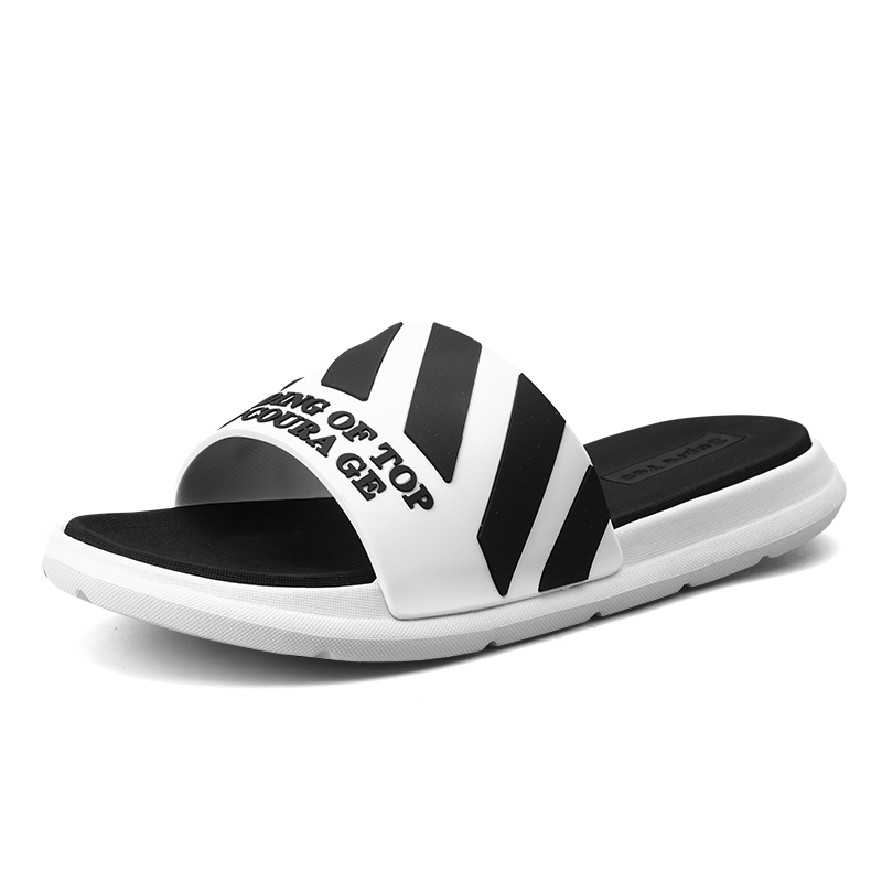 Black White Men Slides Slippers Casual Bathroom Sandals Indoor Outdoor Slippers Soft Comfortable Sole Couple Flip Flops 2019 New