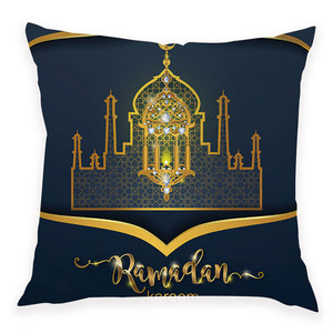 Image 4 - Islamic Eid Mubarak Decorations for Home Sofa Bed Cushion Cover Ramadan Decor Polyester Mosque Muslim Decorative Geburtstagsdeko