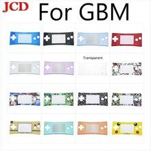 JCDใหม่สีฟ้าสีดำสีแดงเงินสำหรับGameBoy Microแฟชั่นสไตล์ด้านหน้าFaceplateสำหรับGBMระบบด้านหน้ากรณี