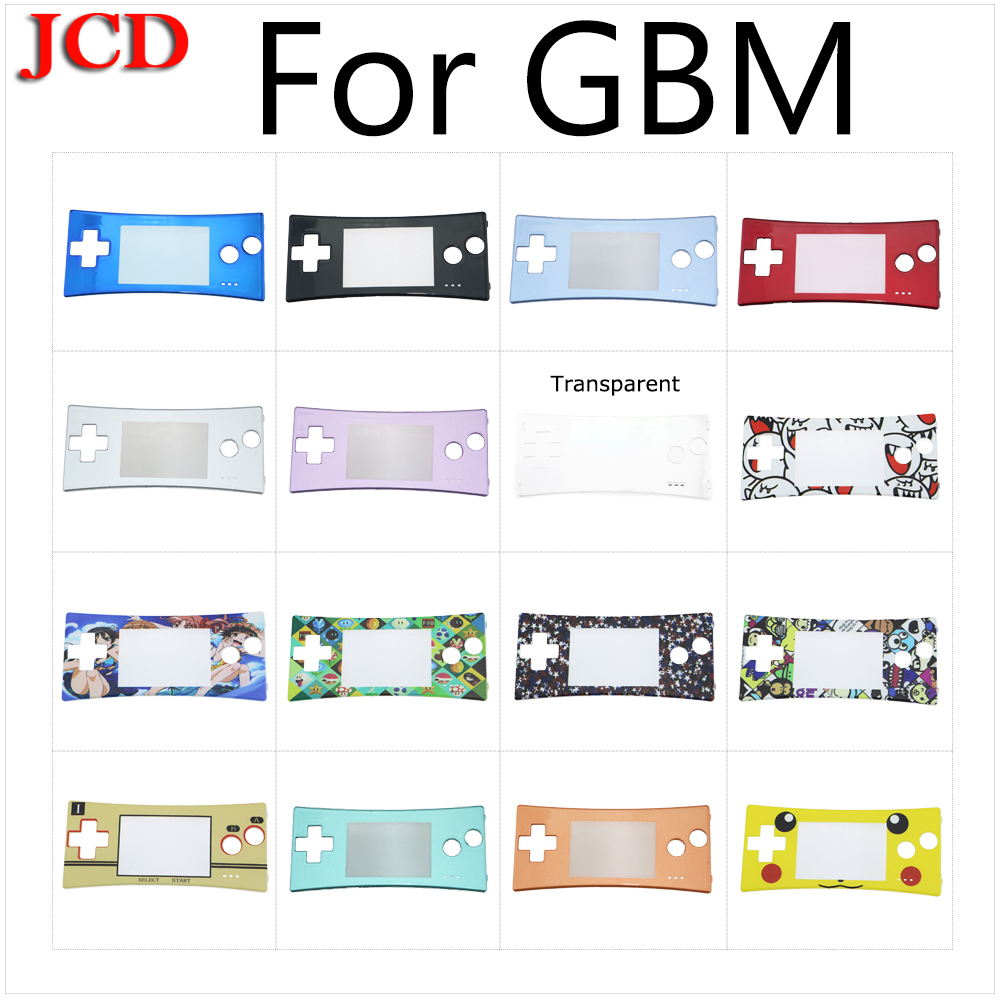 JCD New Blue black red silver For GameBoy Micro Cover Fashion style Front faceplate cover for <font><b>GBM</b></font> System Front shell <font><b>case</b></font> image