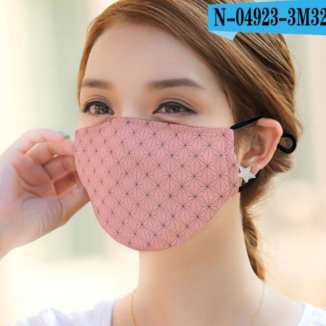 1pc Can Plug-in filter Dust Mouth Mask  Washable Reusable  Various patterns Unisex Cotton Mask for Adult Kids 1