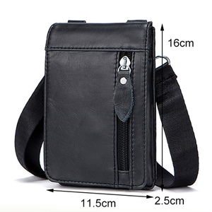 Image 2 - MVA Genuine Leather Waist Packs Fanny Pack Belt Bag Phone Pouch Bags Travel Waist Pack Male Small Waist Bag Leather Pouch 702