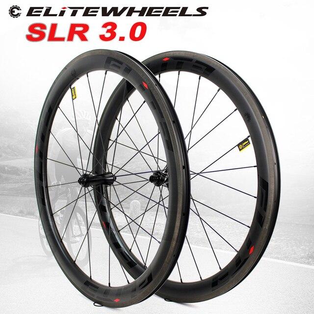 עלית 700C פחמן זוג גלגלי A2 AERO בלם משטח צינורי נימוק מכריע ללא פנימית פחמן כביש אופניים גלגלים עבור רכיבה על אופניים SLR 3.0