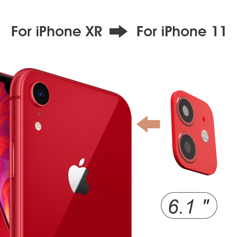 Full Cover Metal Alloy Case Film Camera Lens Protector For IPhone X XS MAX XR Seconds Change For IPhone 11 Pro MAX Lens Film