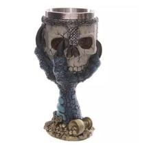 Creative Stainless Steel 3D Skull Goblet Beer Mug Drinking Cup(China)