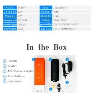 Image 5 - Nouveau utile mini pompe à vide automatique voyage sac de rangement pompe à vide nourriture fruits frais maintien étanchéité Machine domestique