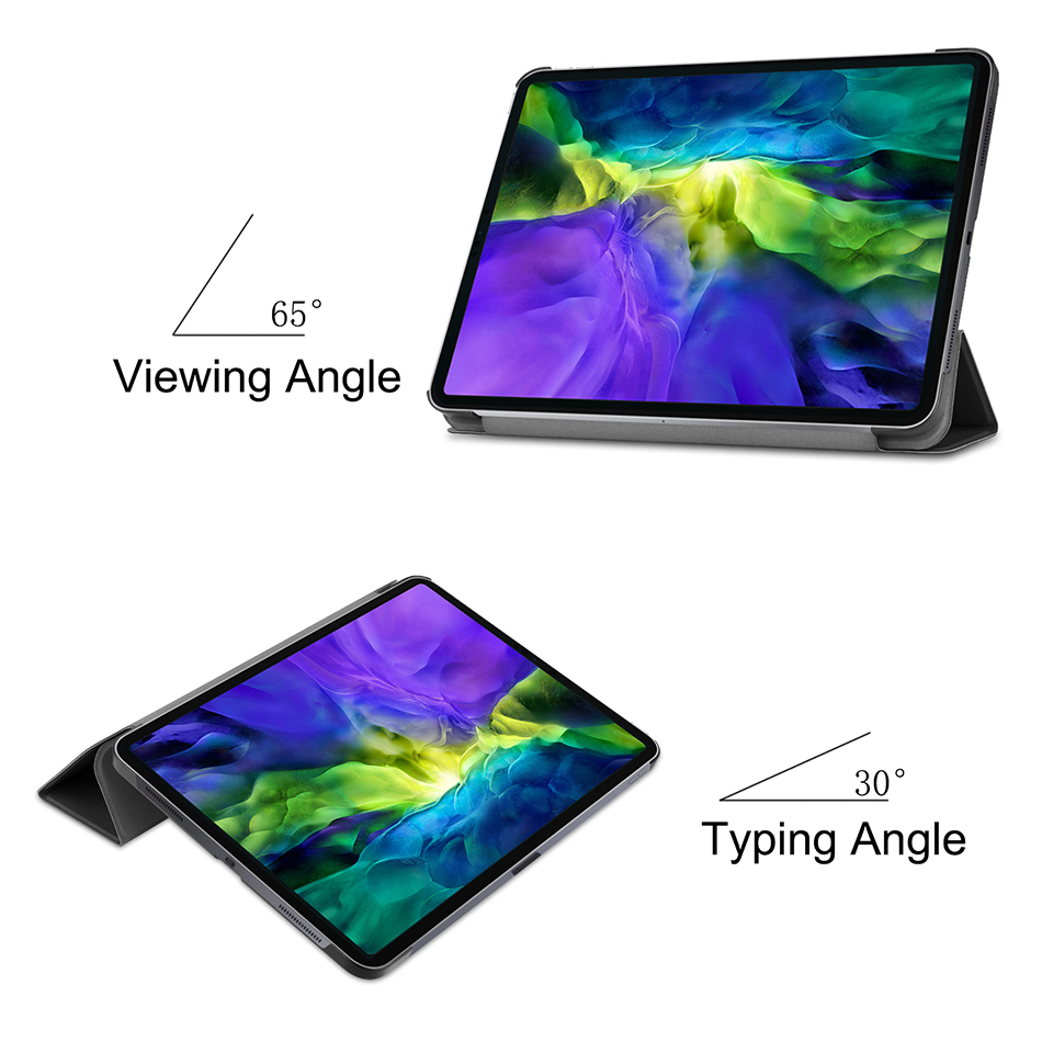 MTT Case For iPad Pro 11 inch 2020 PU Leather Magnetic Fold Flip Smart Cover Protective